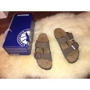 1063f6f2d41 Birkenstock Shoes - NEW! Birkenstock Arizona Birko-Flor Nubuck Mocha